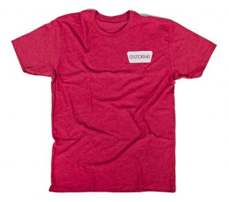 STORMR Wedge Logo Tee – Red